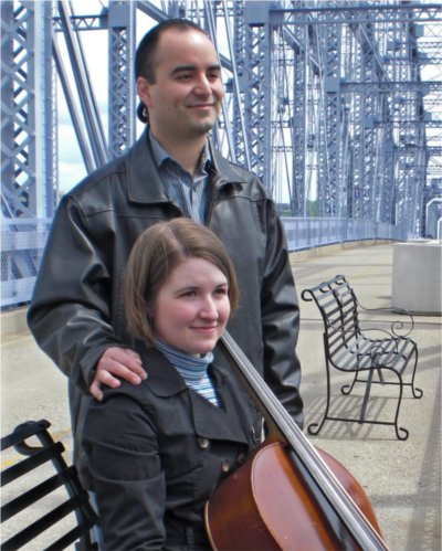 Arturo and Jennifer Araya, Cincinnati cellists.
